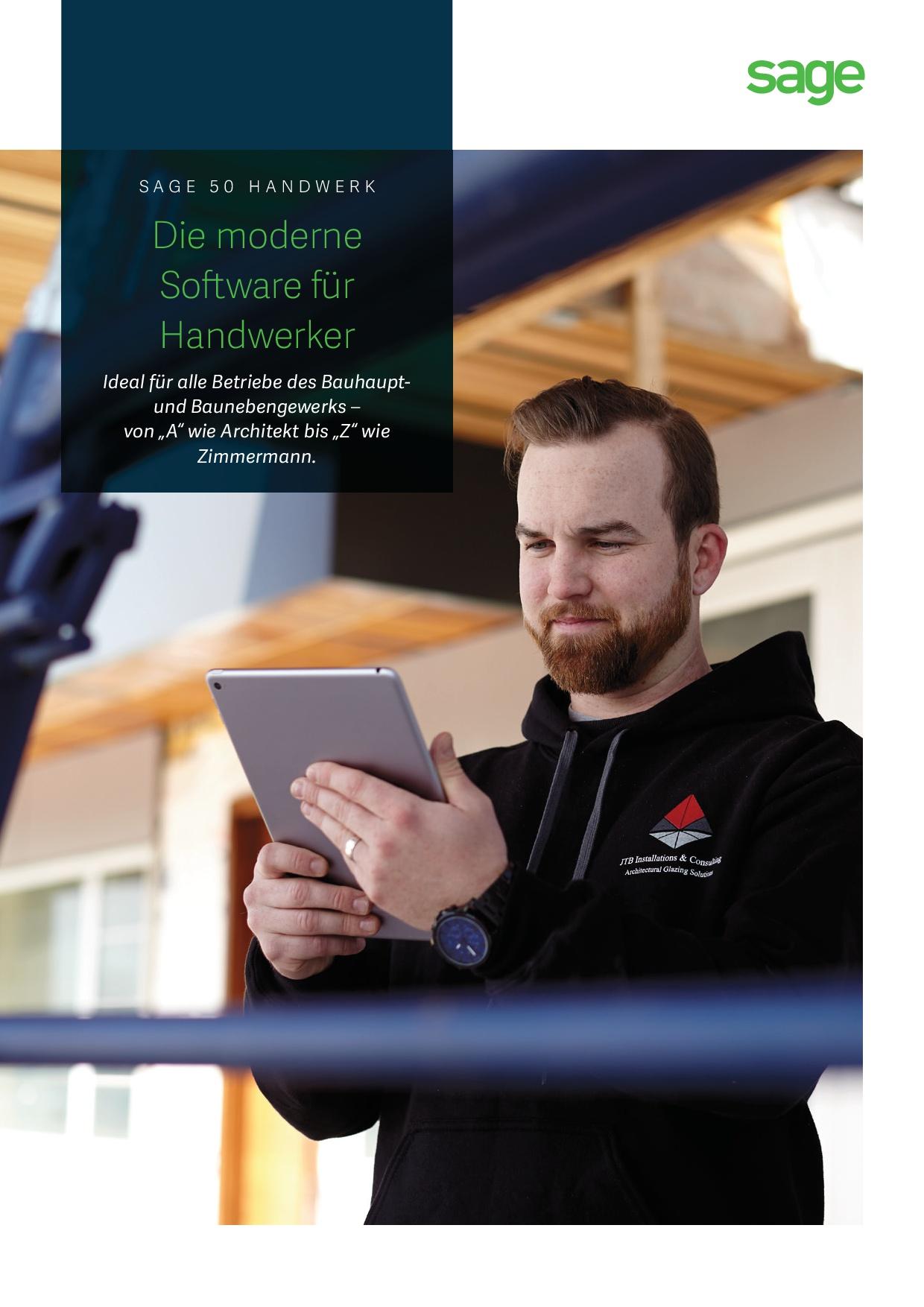 Produktbroschüre Sage 50 Handwerk