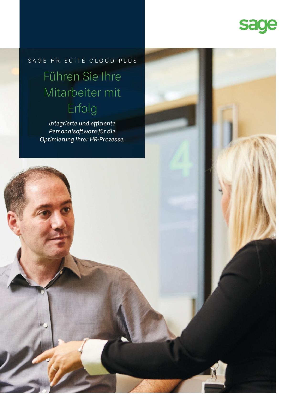 Produktbroschüre Sage HR Suite